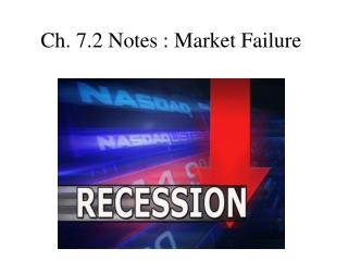 Ch. 7.2 Notes : Market Failure