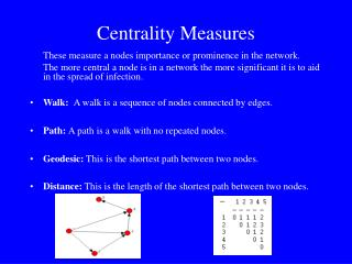 Centrality Measures
