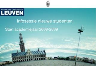 Infosessie nieuwe studenten