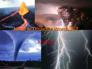 Natural Disaster Words A-Z