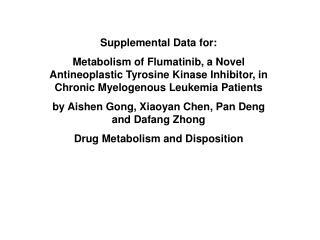Supplemental Data for: