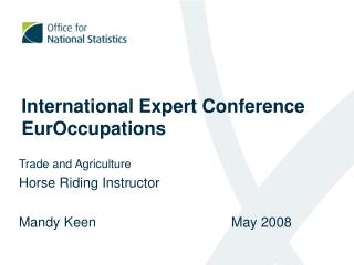 International Expert Conference EurOccupations