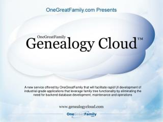 A new service offered by OneGreatFamily that will facilitate rapid UI development of industrial-grade applications that