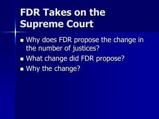 FDR Takes on the Supreme Court