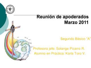 Reunión de apoderados Marzo 2011