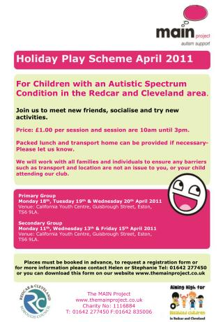 Holiday Play Scheme April 2011