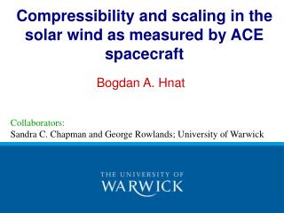 Compressibility and scaling in the solar wind as measured by ACE spacecraft