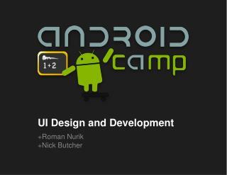 UI Design and Development