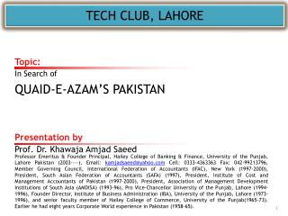 TECH CLUB, LAHORE