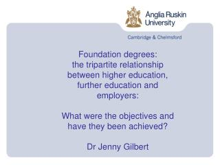 Foundation degrees: