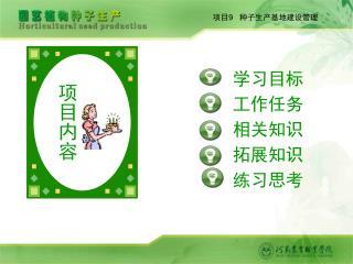 项目 9    种子生产基地建设管理