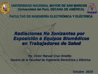 Radiaciones No Ionizantes por Exposición a Equipos Biomédicos en Trabajadores de Salud