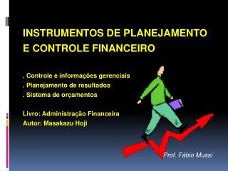 INSTRUMENTOS DE PLANEJAMENTO E CONTROLE FINANCEIRO . Controle e informações gerenciais