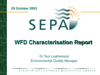 WFD Characterisation Report