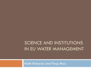 Science and institutions in EU water management