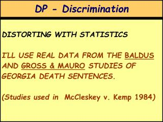 DP - Discrimination