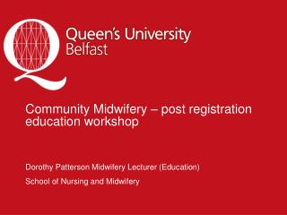 Community Midwifery – post registration education workshop