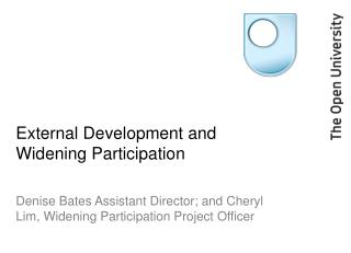 External Development and Widening Participation
