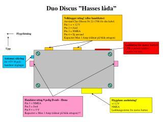 """Duo Discus """"Hasses låda"""""""