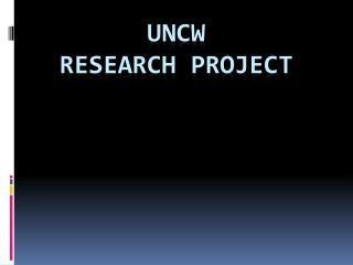 UNCW Research project