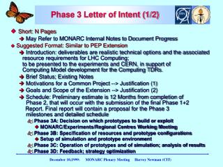 Phase 3 Letter of Intent (1/2)