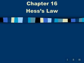 Chapter 16  Hess's Law