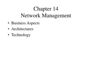 Chapter 14 Network Management