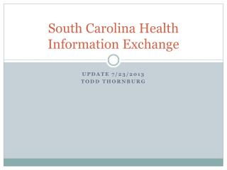 South Carolina Health Information Exchange