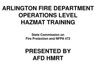 What is  a  FIRST RESPONDER  OPERATIONS LEVEL ?