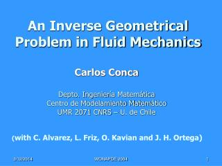 An Inverse Geometrical Problem in Fluid Mechanics
