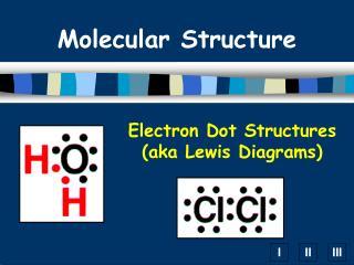 Electron Dot Structures  (aka Lewis Diagrams)