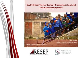 South African Teacher Content Knowledge in Local and International Perspective
