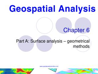 Part A: Surface analysis   geometrical methods
