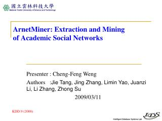 ArnetMiner: Extraction and Mining of Academic Social Networks