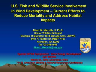 U.S. Fish and Wildlife Service Involvement in Wind Development