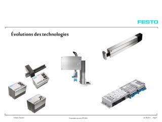 �volutions des technologies