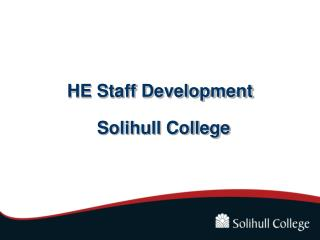 HE Staff Development