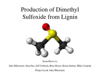 Production of Dimethyl Sulfoxide from Lignin