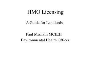HMO Licensing
