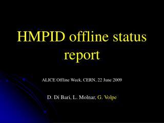 HMPID offline status report