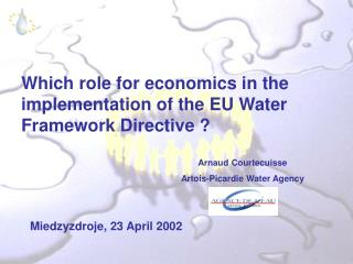 Which role for economics in the implementation of the EU Water Framework Directive ?