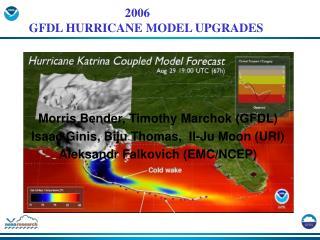 Morris Bender, Timothy Marchok GFDL Isaac Ginis, Biju Thomas,  Il-Ju Moon URI Aleksandr Falkovich EMC