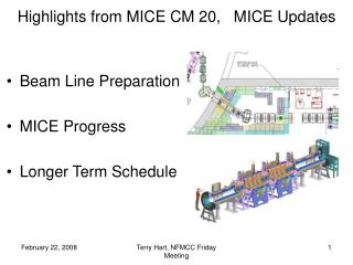 Highlights from MICE CM 20,   MICE Updates