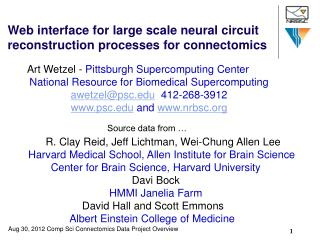 Web interface for large scale neural circuit reconstruction processes for connectomics