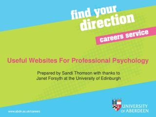Useful Websites For Professional Psychology