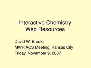 Interactive Chemistry
