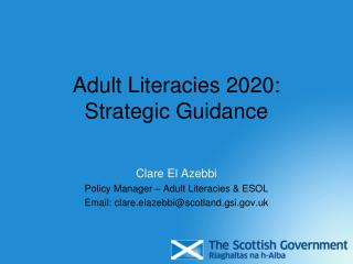 Adult Literacies 2020: Strategic Guidance