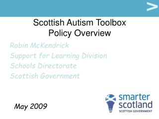 Scottish Autism Toolbox Policy Overview