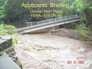 October 2004 Flood  FEMA-1575-DR-HI