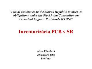 Alena Pilváňová 20.januára 2003 Piešťany